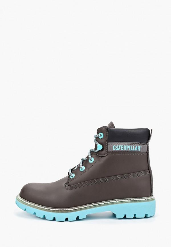 женские ботинки caterpillar, серые