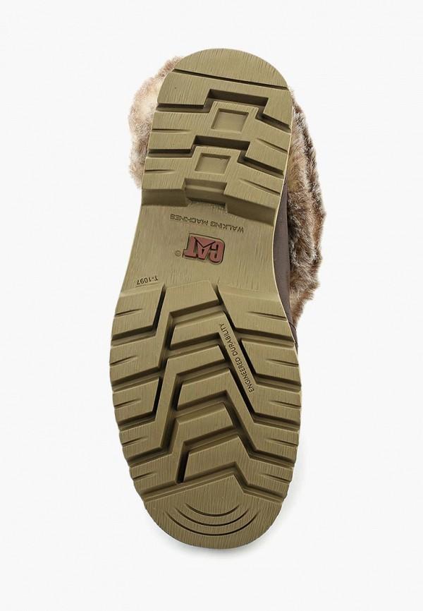 Фото 3 - Женские ботинки и полуботинки Caterpillar коричневого цвета