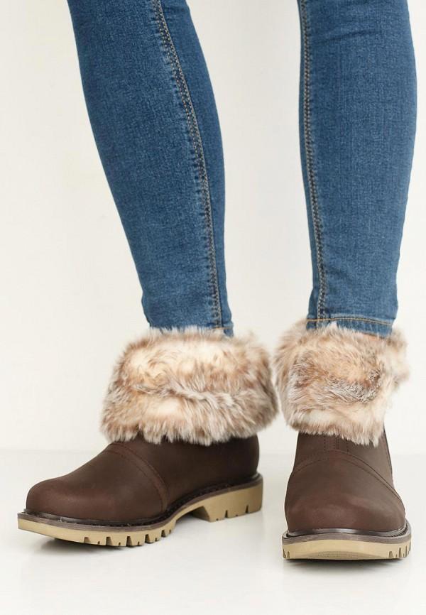 Фото 5 - Женские ботинки и полуботинки Caterpillar коричневого цвета