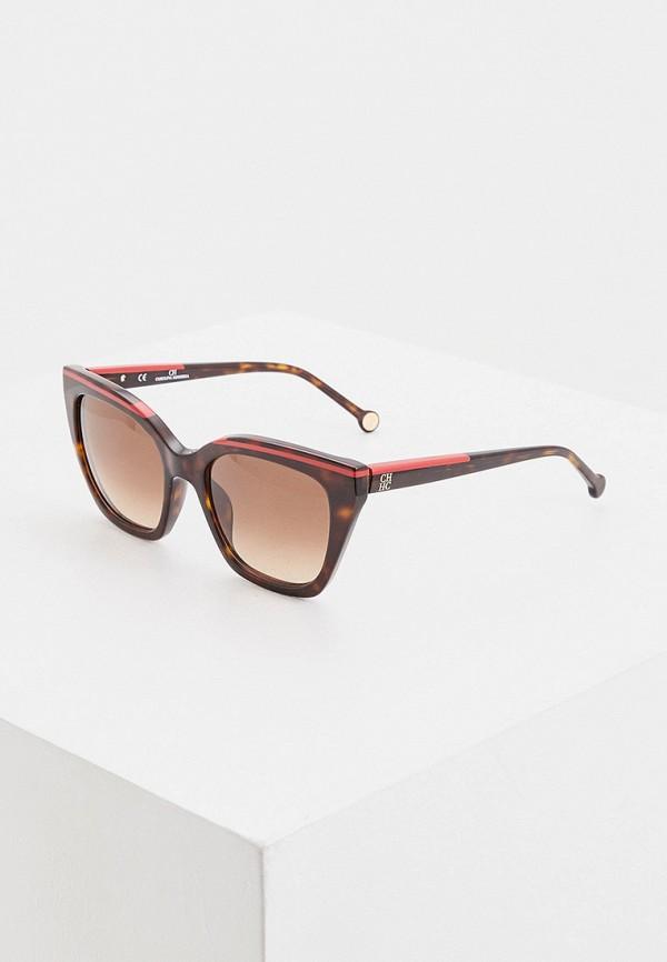 женские солнцезащитные очки carolina herrera, коричневые