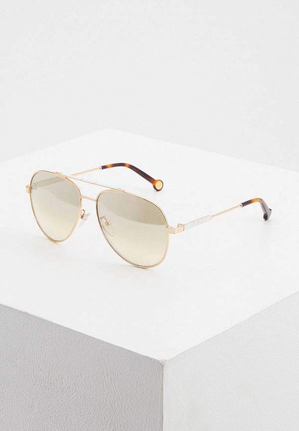 женские солнцезащитные очки carolina herrera, золотые