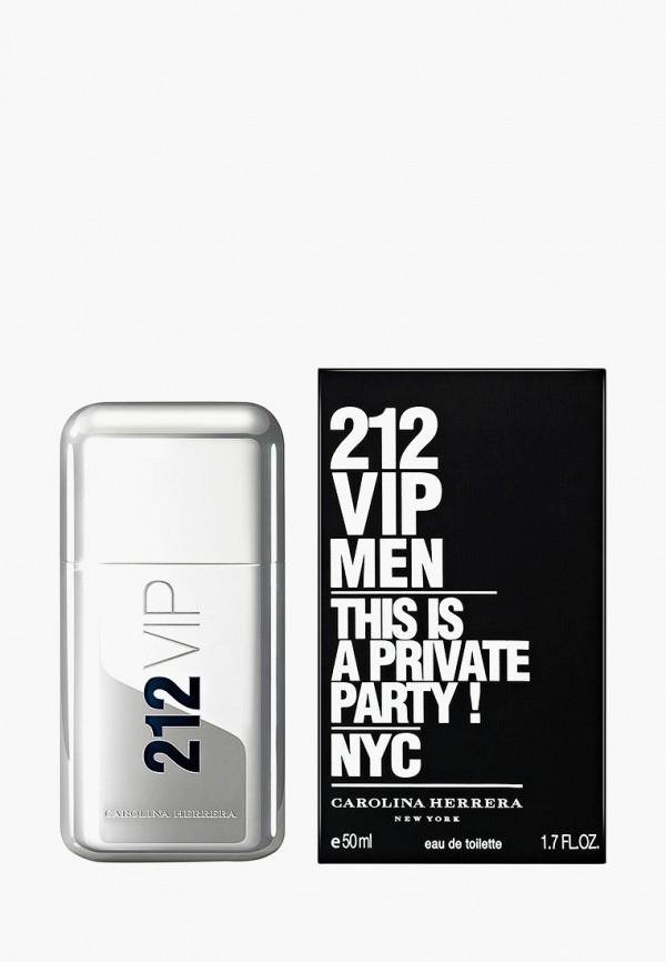 Купить Туалетная вода Carolina Herrera, 212 Vip Men 50 мл, CA251LMDG229, белый, Осень-зима 2018/2019