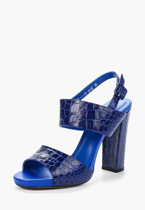 женские босоножки calipso, синие