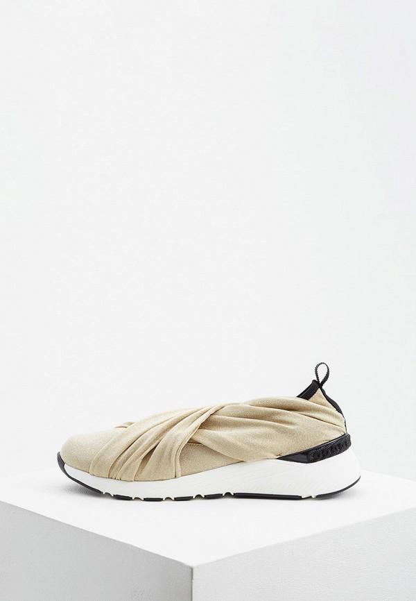 женские кроссовки casadei, золотые