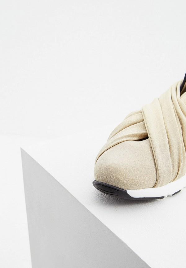 Фото 2 - женские кроссовки Casadei золотого цвета