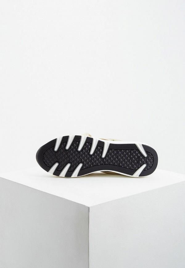 Фото 3 - женские кроссовки Casadei золотого цвета
