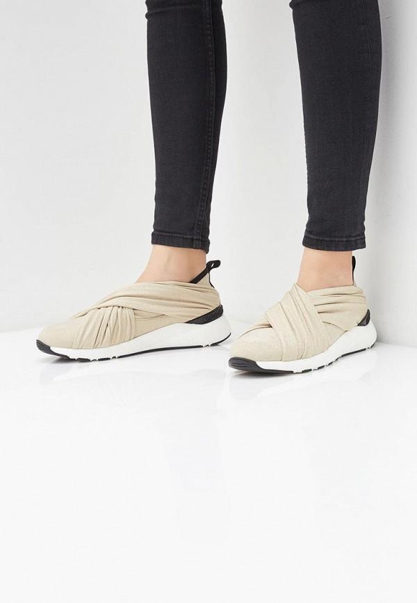 Фото 5 - женские кроссовки Casadei золотого цвета