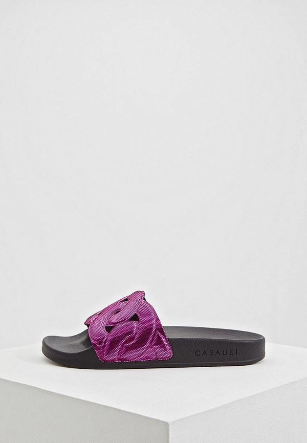 женское сабо casadei, розовое