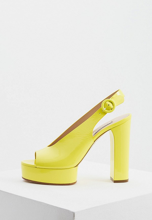 женские босоножки casadei, желтые