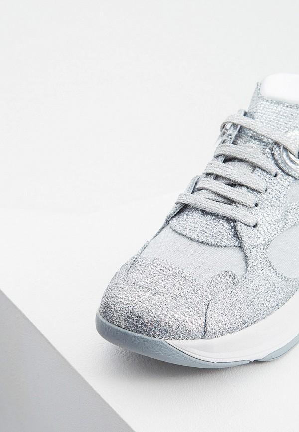 Фото 2 - женские кроссовки Casadei серебрянного цвета