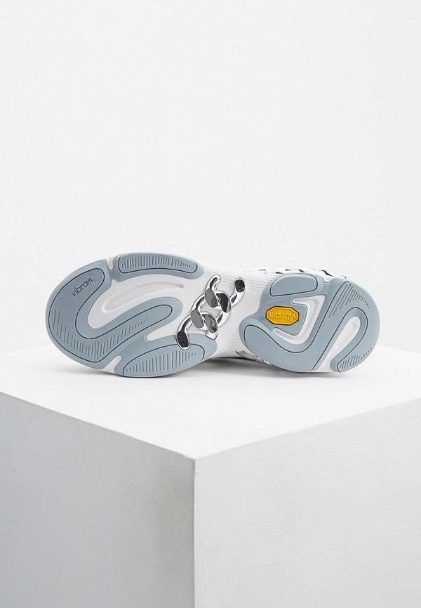 Фото 3 - женские кроссовки Casadei серебрянного цвета