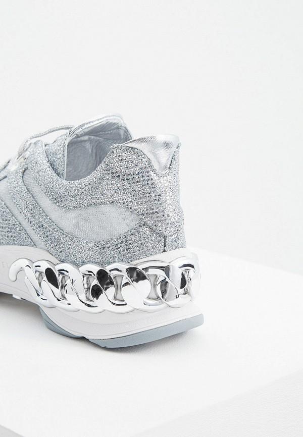 Фото 5 - женские кроссовки Casadei серебрянного цвета