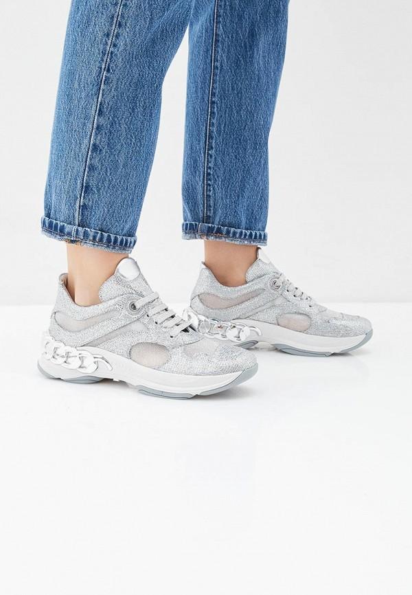 Фото 6 - женские кроссовки Casadei серебрянного цвета