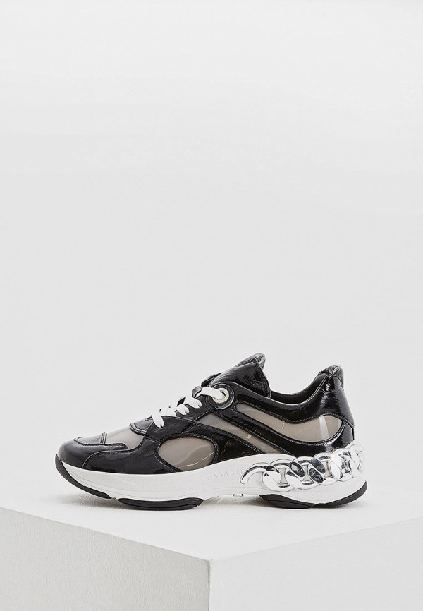 женские низкие кроссовки casadei, черные