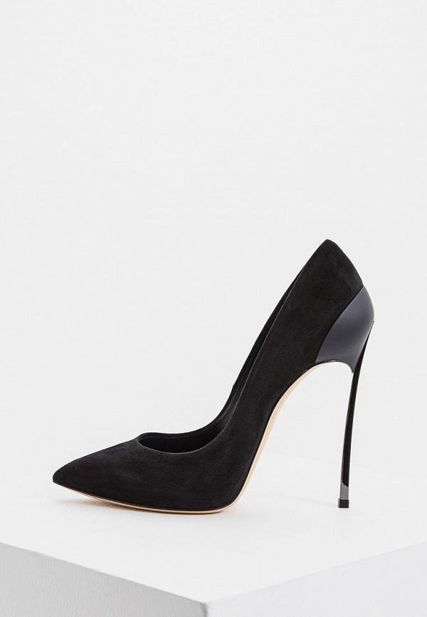 женские туфли-лодочки casadei, черные