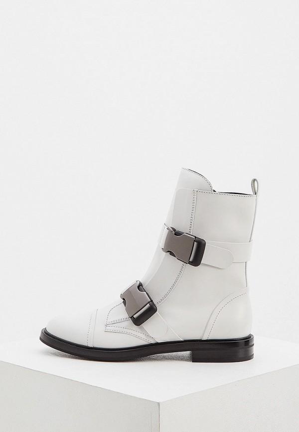 женские высокие ботинки casadei, белые