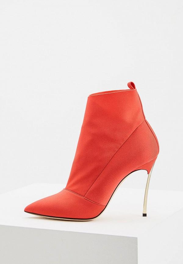 женские ботильоны casadei, красные