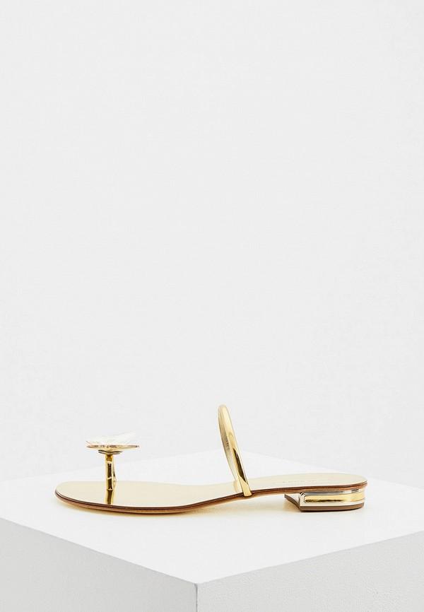 женское сабо casadei, золотое