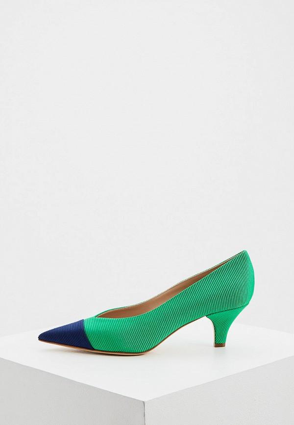 женские туфли с закрытым носом casadei, зеленые