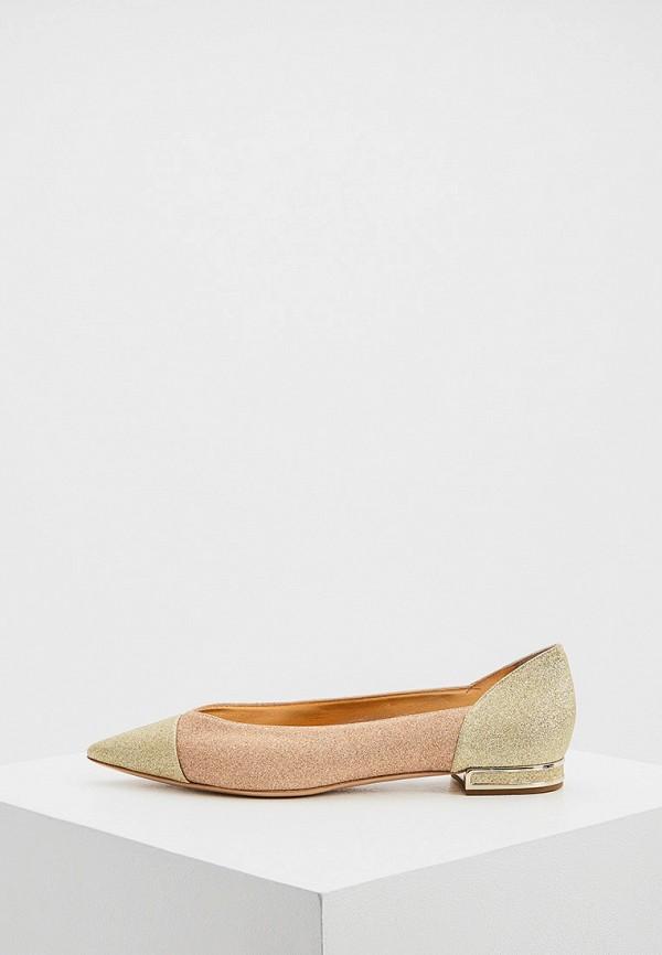 женские туфли с закрытым носом casadei, розовые