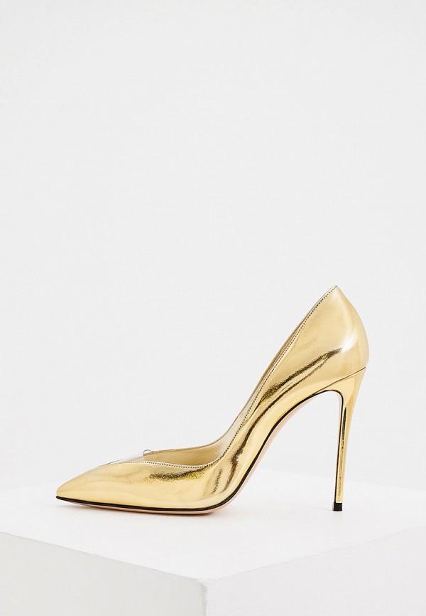 женские туфли casadei, золотые
