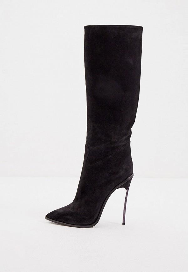 женские сапоги casadei, черные