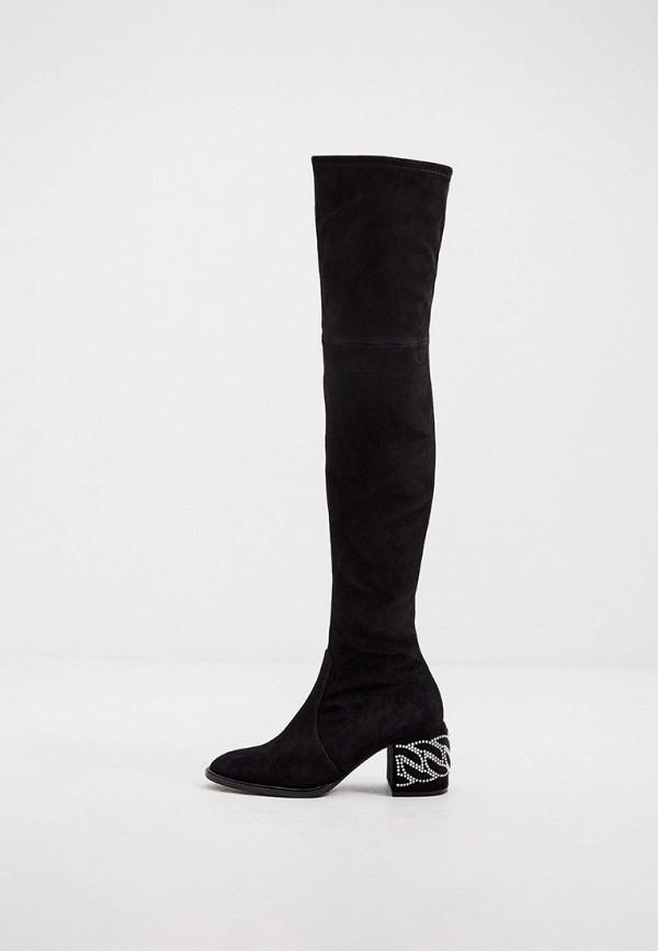 женские ботфорты casadei, черные