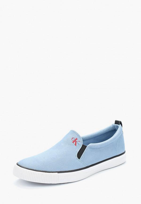 Купить Слипоны Calvin Klein Jeans, CA939AMAPPV3, голубой, Весна-лето 2018