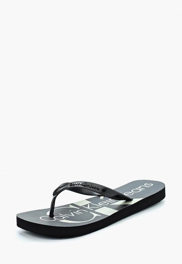 Купить Сланцы Calvin Klein Jeans, CA939AMAPPW8, черный, Весна-лето 2018