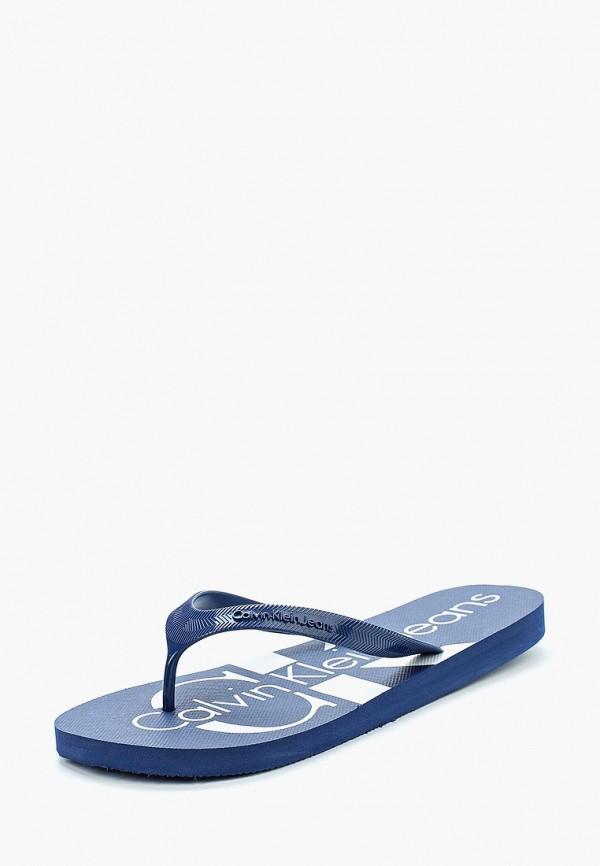 Купить Сланцы Calvin Klein Jeans, CA939AMAPPX0, синий, Весна-лето 2018