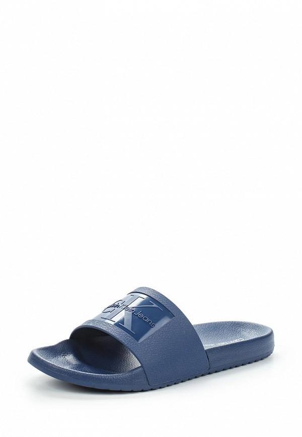 Купить Сланцы Calvin Klein Jeans, ca939amappx1, синий, Весна-лето 2018