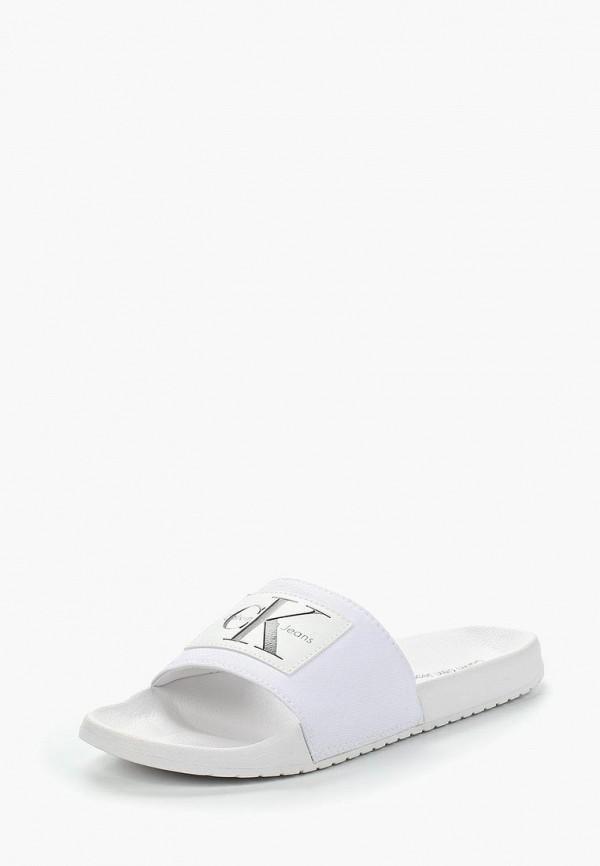 Купить Сланцы Calvin Klein Jeans, CA939AMAPPX5, белый, Весна-лето 2018