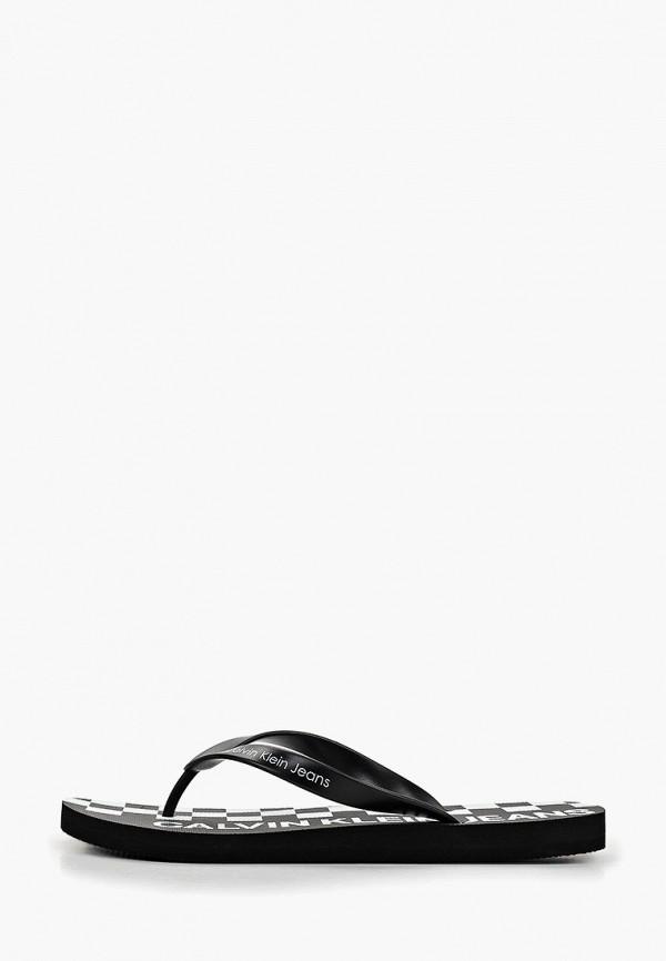 мужские сланцы calvin klein, черные