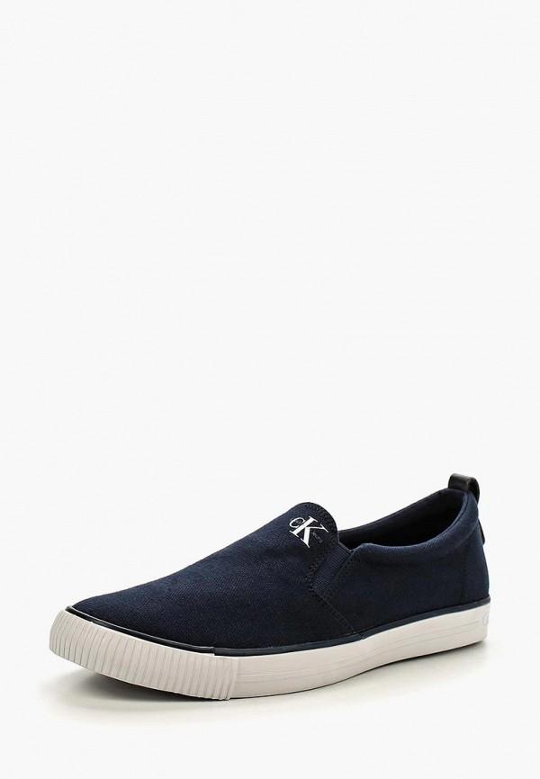 Купить Слипоны Calvin Klein Jeans, ARMAND, ca939amllh52, синий, Весна-лето 2018