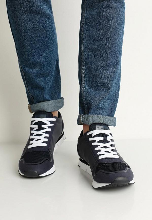 Фото 5 - Мужские кроссовки Calvin Klein Jeans синего цвета