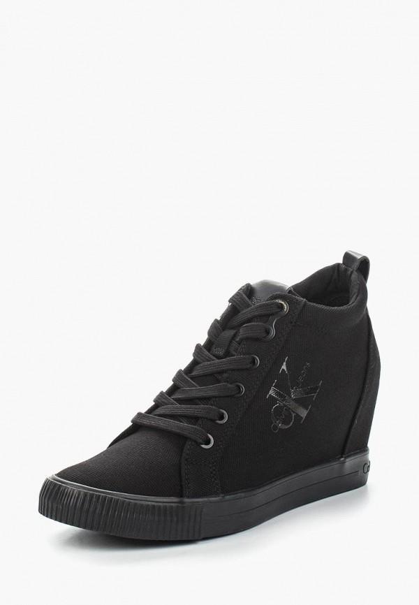 Купить Кеды на танкетке Calvin Klein Jeans, RITZY, CA939AWAPQA0, черный, Весна-лето 2018
