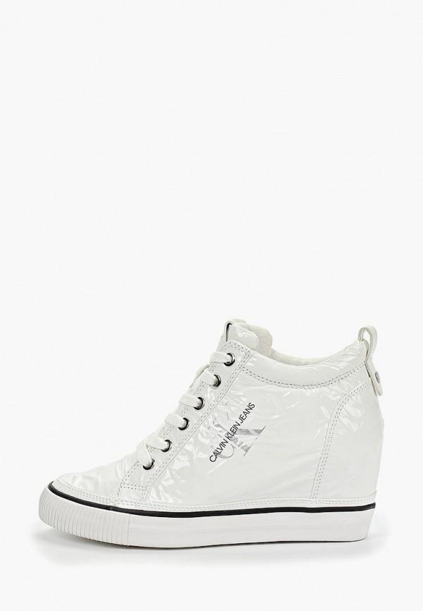 купить Кеды на танкетке Calvin Klein Jeans Calvin Klein Jeans CA939AWETIF5 по цене 6370 рублей