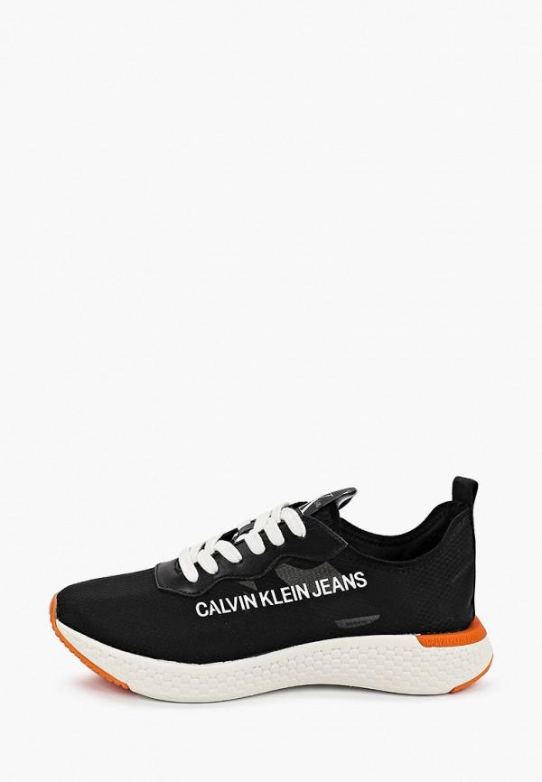 женские низкие кроссовки calvin klein, черные