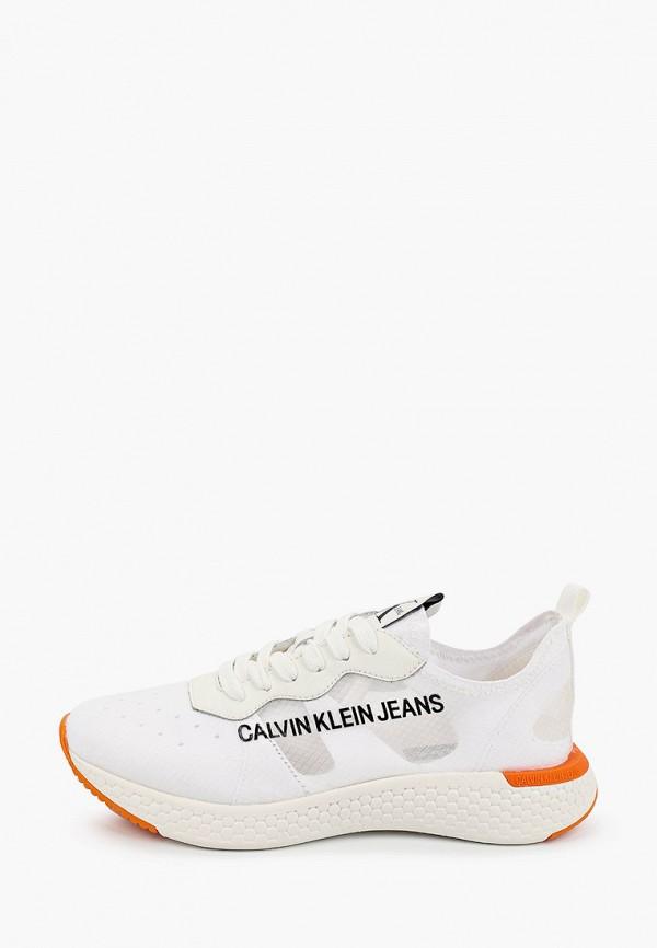 женские низкие кроссовки calvin klein, белые