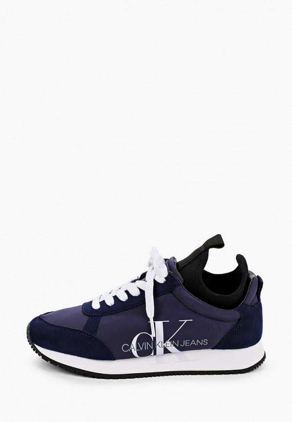 женские низкие кроссовки calvin klein, синие