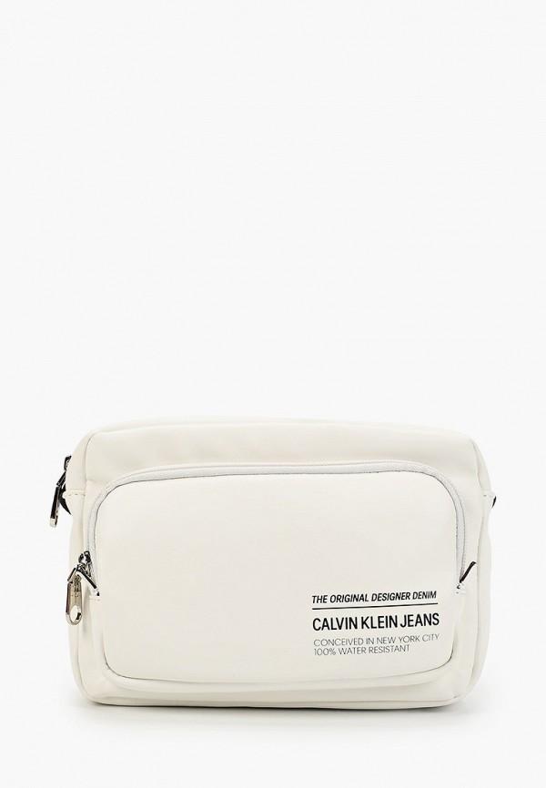 мужская сумка calvin klein, белая