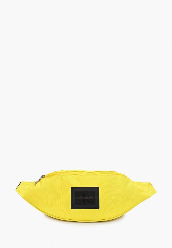 мужская сумка calvin klein, желтая