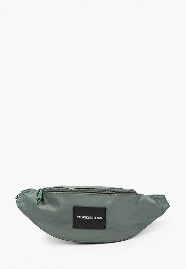 мужская сумка calvin klein, зеленая