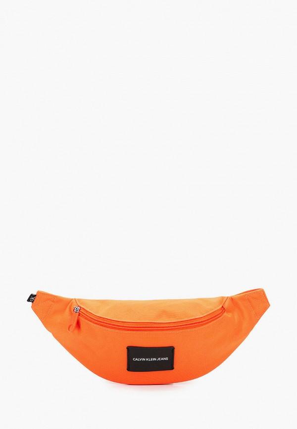 женская поясные сумка calvin klein, оранжевая