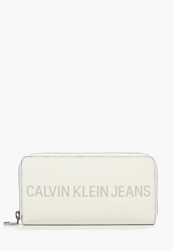 Купить Кошелек Calvin Klein Jeans, CA939BWBTIF9, белый, Осень-зима 2018/2019