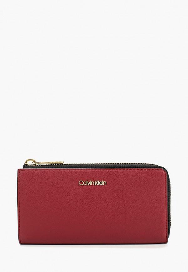 Купить Кошелек Calvin Klein Jeans, CA939BWBTKP1, бордовый, Осень-зима 2018/2019