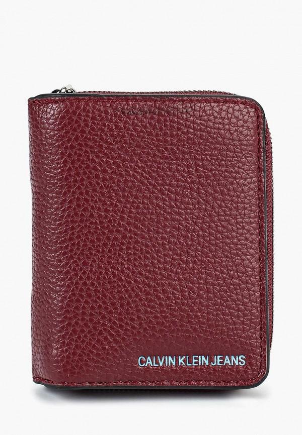 Купить Кошелек Calvin Klein Jeans, ca939bwbtku7, бордовый, Осень-зима 2018/2019