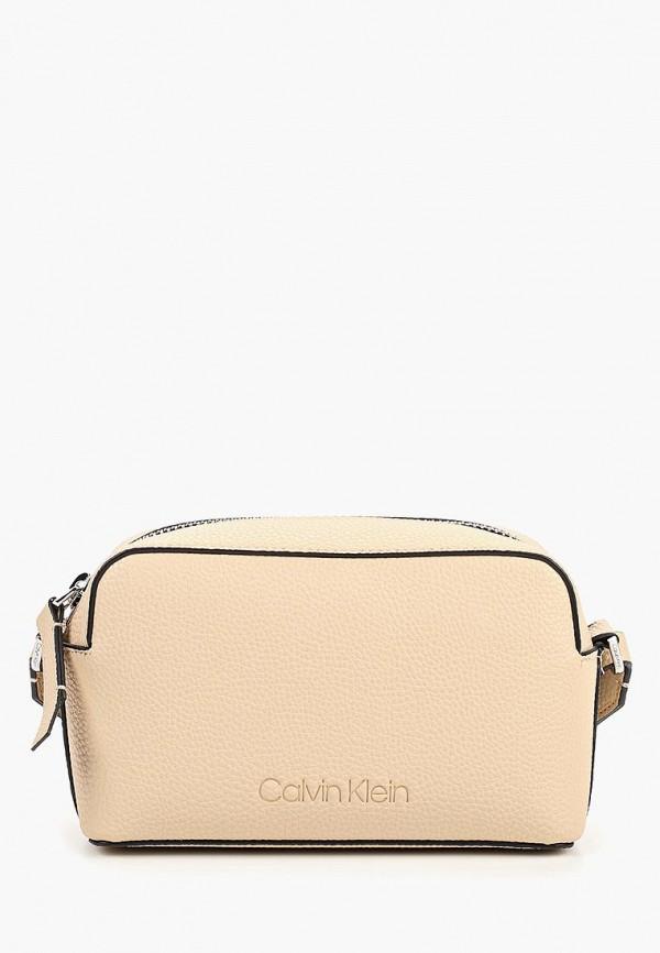 Купить Сумка Calvin Klein Jeans, ca939bwducs6, бежевый, Весна-лето 2019