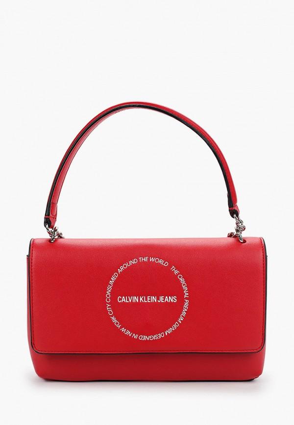 женская сумка calvin klein, красная