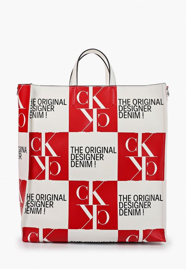 цена Сумка Calvin Klein Jeans Calvin Klein Jeans CA939BWHIRZ3 онлайн в 2017 году